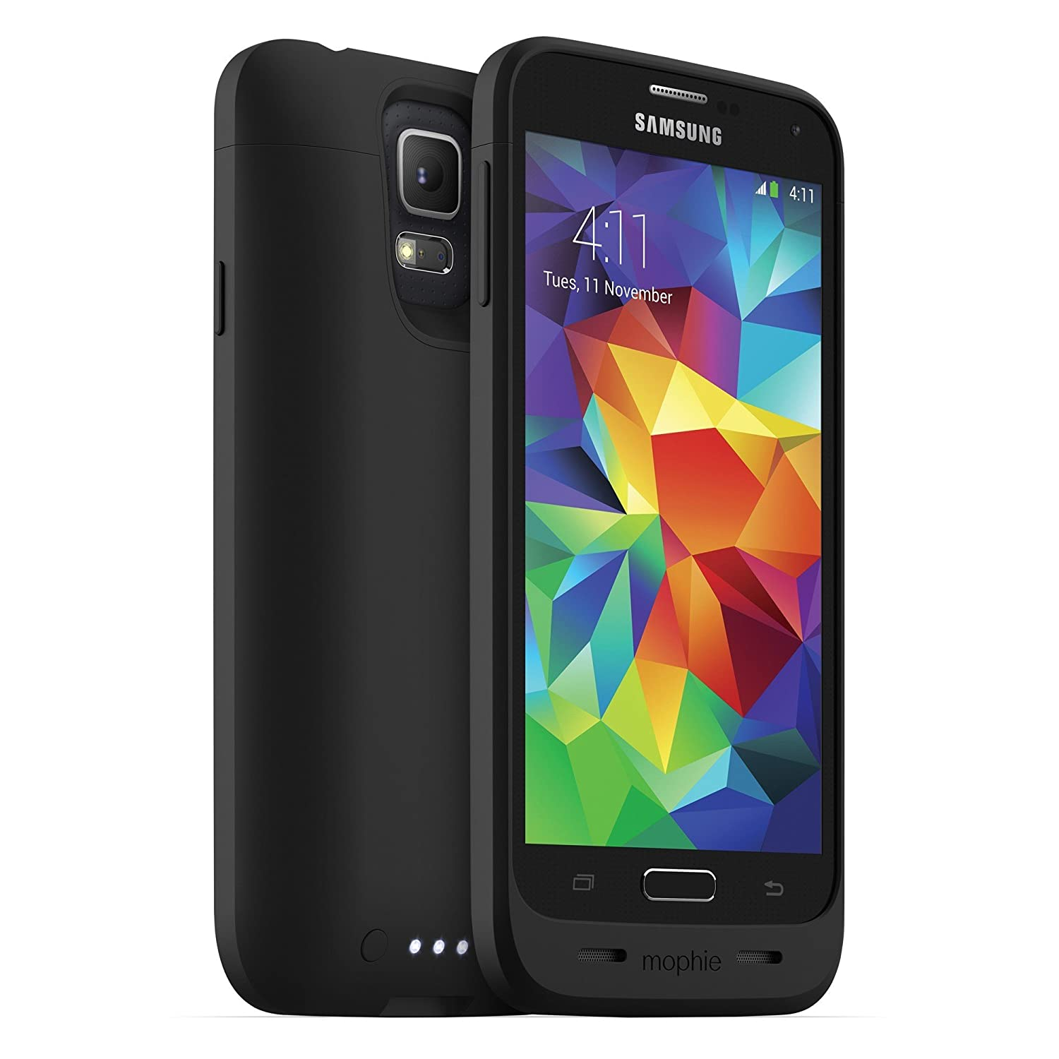 mophie Juice Pack for Samsung Galaxy S5 (3,000mAh) - Black (Renewed)