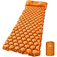 AirExpect Camping Sleeping Pad with Built-in Pump Upgraded Inflatable Camping Mat with Pillow for Backpacking, Traveling…