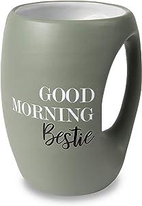 Pavilion Gift Company Good Morning Bestie 16 oz Mug, Green