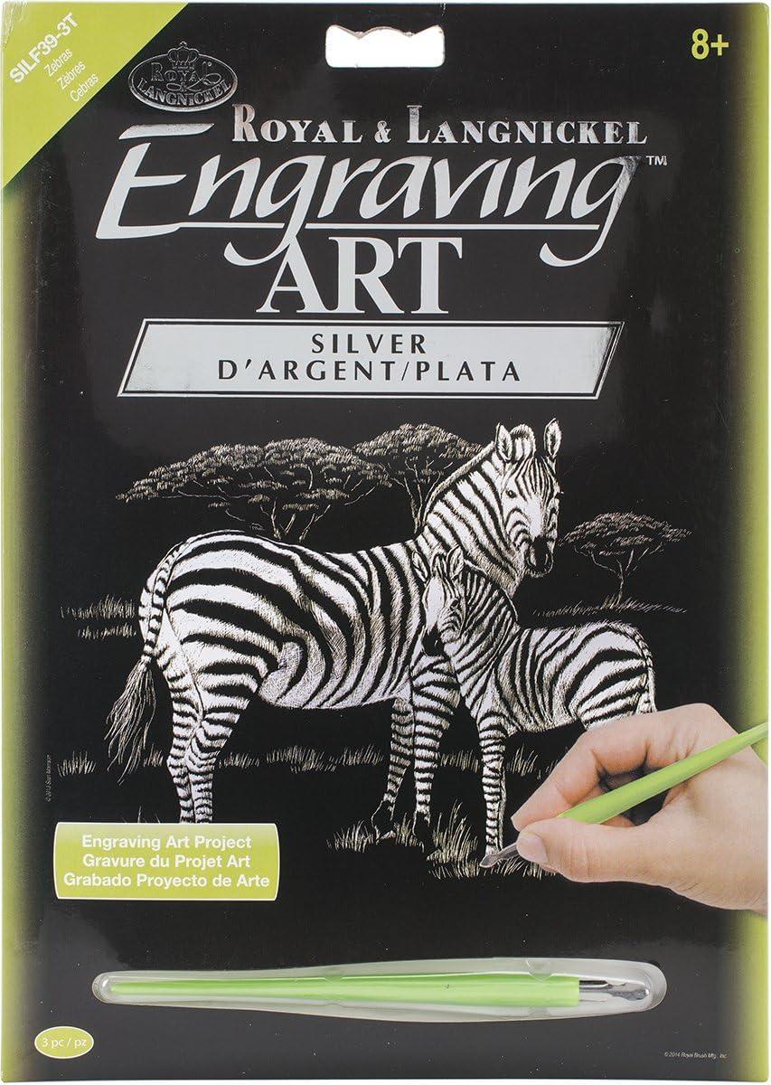 Silver Foil Engraving Art Kit 8X10-Mare /& Foal Royal Brush