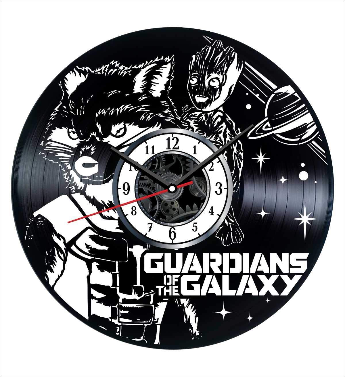 Guardians of The Galaxy Wall Clock Vintage Record - Get Unique Home and Office Decor Bedroom Kitchen Kids Living Room - Gifts for Men Women Kids Father Mother - Wall Art Design - Free Personalization
