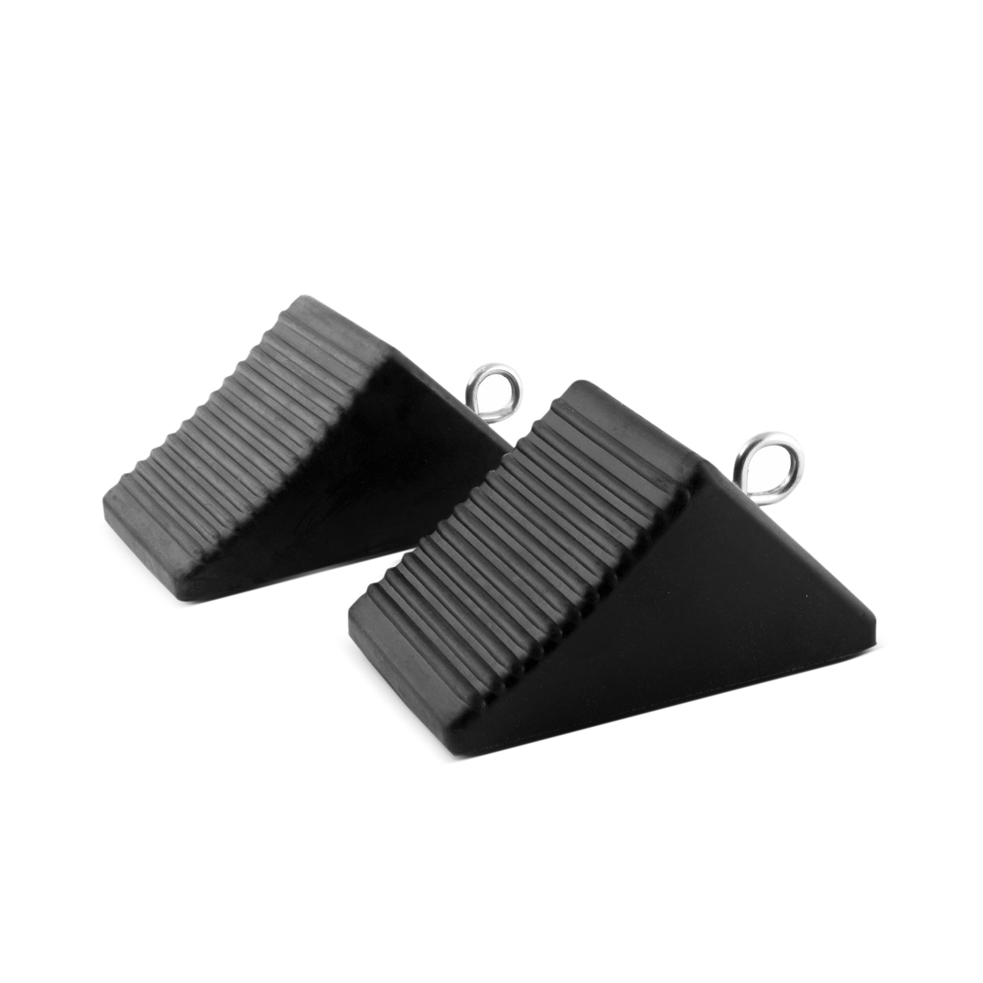 Approved for Automotive AFA Tooling Nylon Reinforced Set of Two Heavyweight Wheel Chocks with Eyebolts