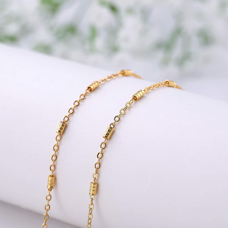 fishhook Brillen Kette Brillen Sonnenbrille Strap Inhaber Lesebrille Inhaber Keeper Lanyard Cord zierliche Zylinder f/ür Frauen M/änner Gold