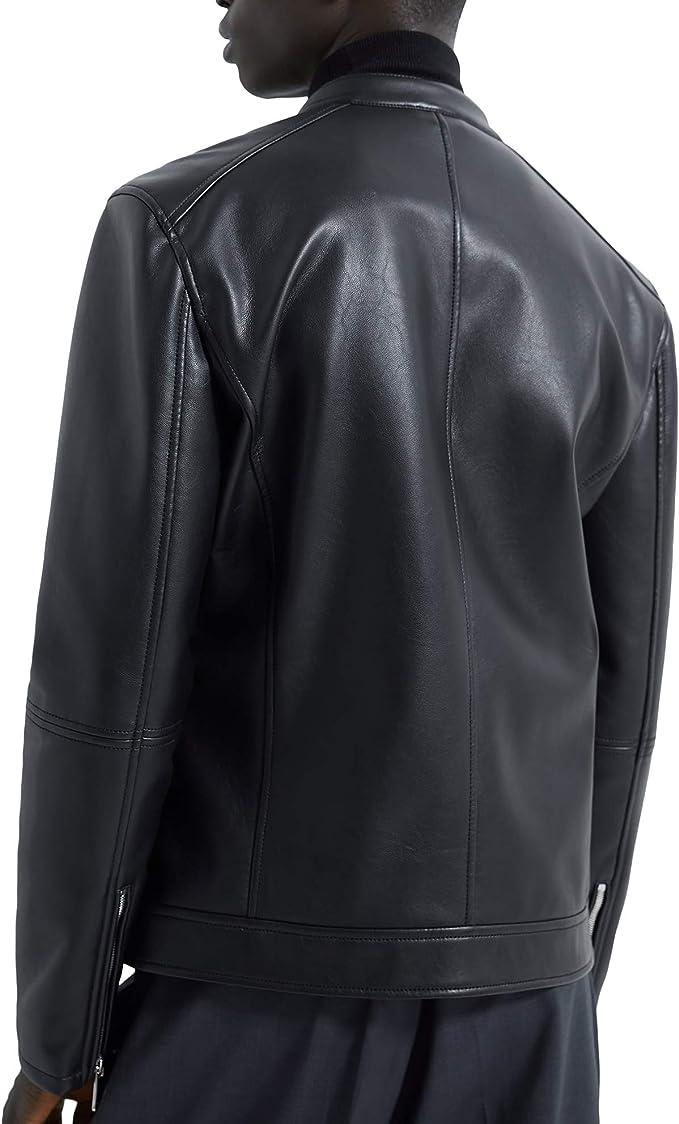Zara 8281/355/800 - Chaqueta de Motociclista para Hombre (Piel ...