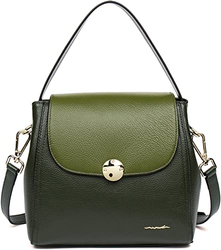 Amazon.com: figestin Women bolsas de hombro piel bolsos de ...