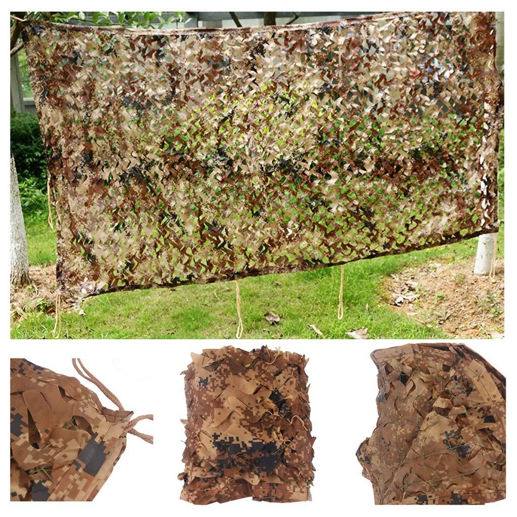 23M Filet de Prougeection Solaire for Jardin, Filet de Camouflage Filet d'ombrage Auvents Marron Désert Filet de Camouflage for Tentes Résistantes au Feu Aux Flammes 2m 3m 4m 5m 6m 7m 8m 10m 12m