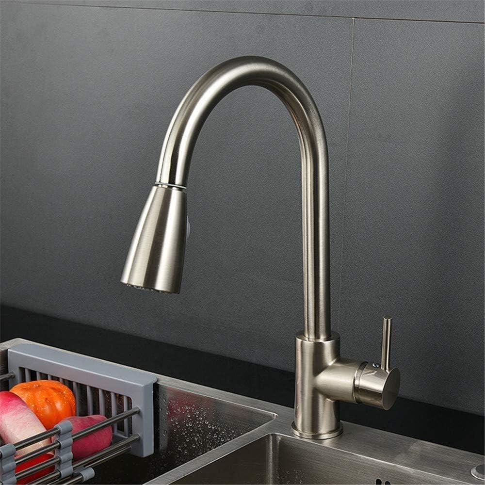 インストールが簡単 新しいキッチンプル冷たいお湯の蛇口360°回転クリーニング死んでいない角度使用鉛フリー304ステンレス鋼材料環境健康