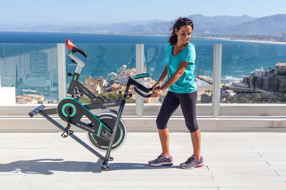 Bicicleta de Spinning Intense de Cecotec. Amortiguador, Pantalla LCD, Resistencia Variable, Totalmente Ajustable y Sillín Profesional: Amazon.es: Deportes y aire libre