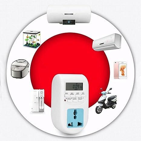 LEDMOMO Temporizador Digital Temporizador programable programable Interruptores de Tiempo Digitales (Enchufe Europeo): Amazon.es: Electrónica