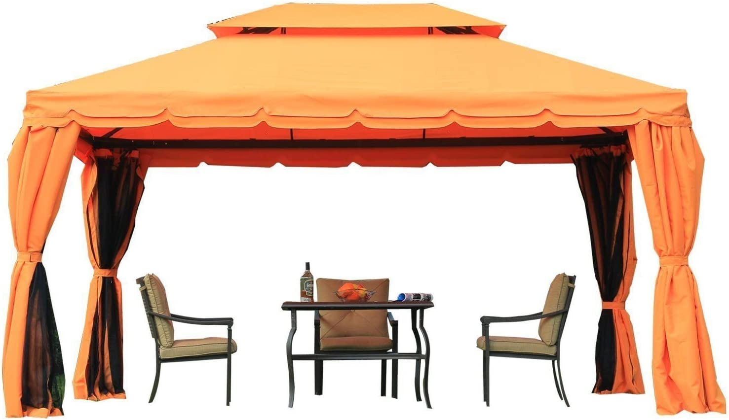 Outsunny - Carpa jardín, Color Naranja, 2, 9 x 3, 9 m: Amazon.es ...