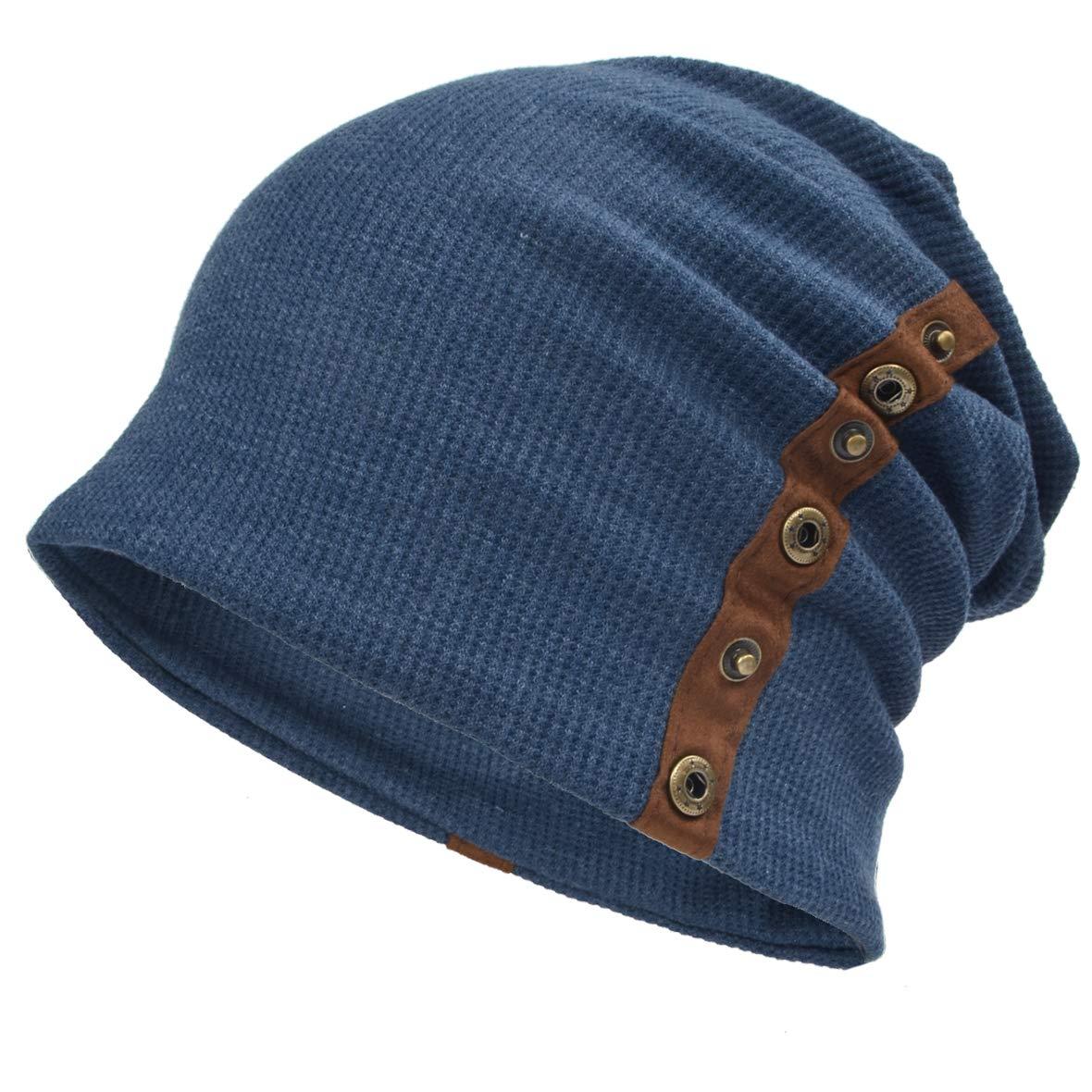Ruphedy Men Knit Beanie Winter Slouch Skull Cap Ski Hat B020