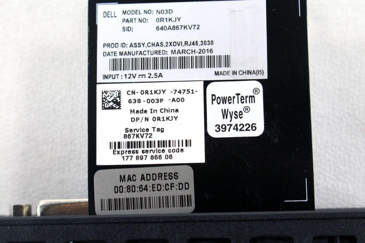 Dell Wyse 3030 909802-01L Thin Client N03D Intel Dual-core R1KJY+KIT by Dell (Image #4)