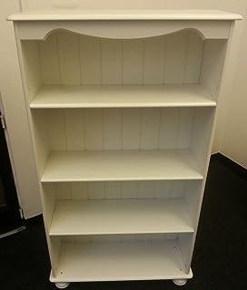Richmond Steens White Medium Bookcase 3 Adjustable Shelves Real TG Back