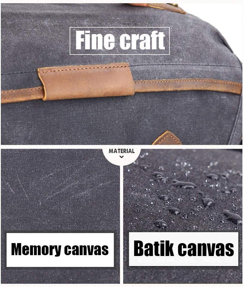 LXIANGP Waterproof Batik Canvas Photography Shoulder Camera Bag Retro Casual SLR Canvas Diagonal Bag Multi-Purpose Send Men Boyfriend