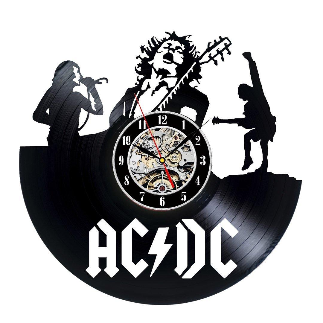 AC DC disco de vinilo reloj de pared, diseño vintage regalo: Amazon ...