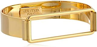 product image for A.V. Max NYC Goldtone Open Rectangle Buckled Hinge Latch Bracelet 1/2 Wide