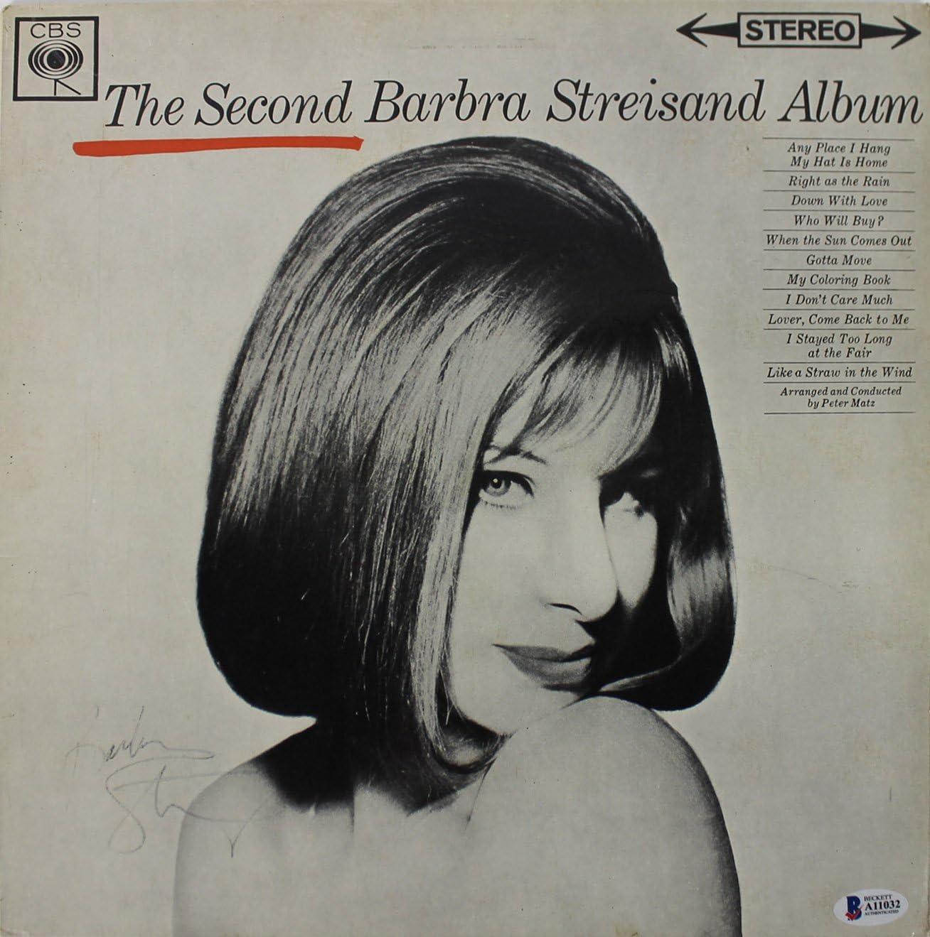 Barbra Streisand Signed The Second Album Album Cover W/Vinyl BAS #A11032