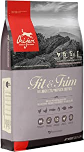 ORIJEN Fit and Trim Dog Food, Healthy Weight Recipe, Grain Free, Fresh and Raw Animal Ingredients