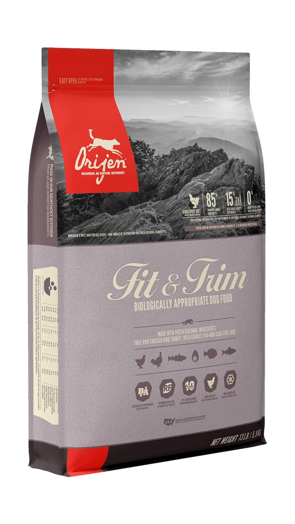 ORIJEN Dry Dog Food, Fit & Trim, Biologically Appropriate & Grain Free by Orijen