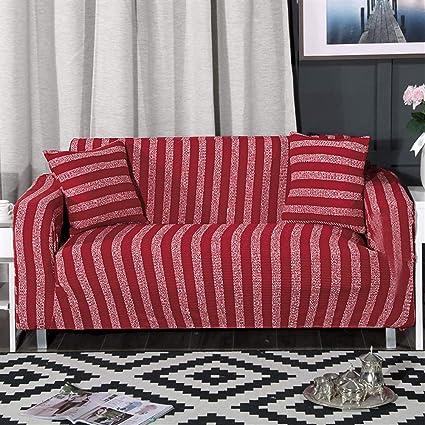 Amazon.com: ONCEFIRST 1 Piece Knit Stretch Striped Sofa ...
