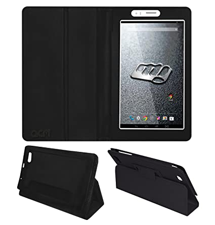 official photos b6bd3 c7dff Acm Executive Leather Flip Case for Micromax Canvas Tab P470 Tablet Front &  Back Flap Cover Stand Holder Black