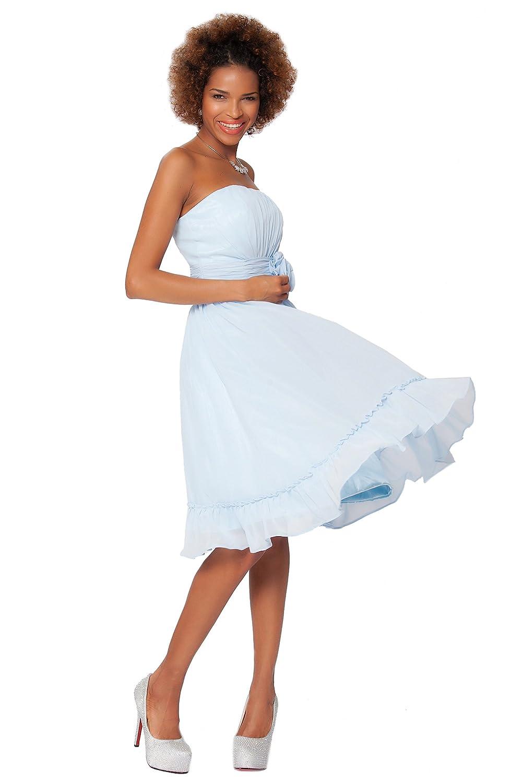 SEXYHER Gorgeous Strapless Knee Length Cocktail Bridesmaids Dress - COJ1505