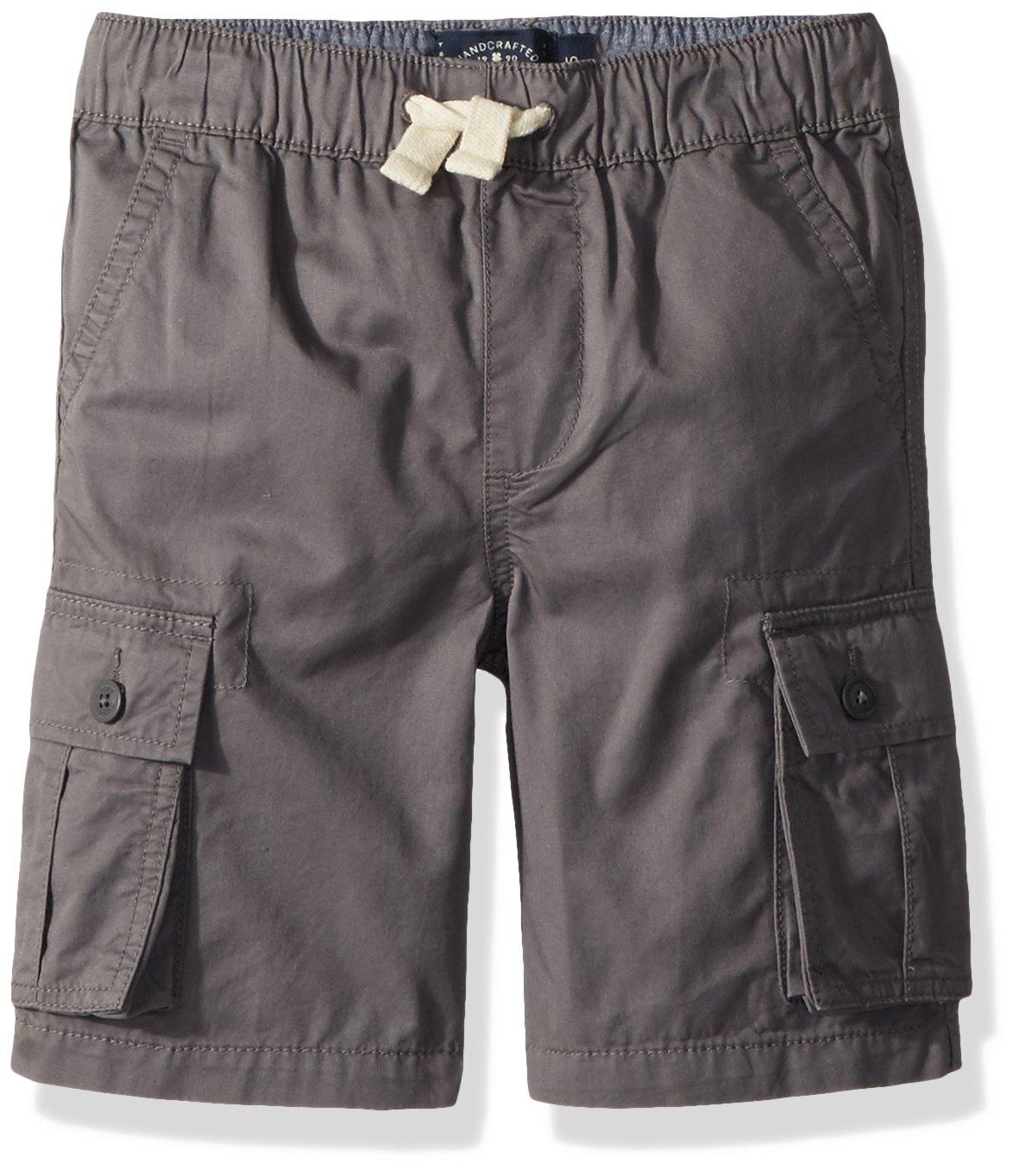 Lucky Brand Boys' Big Cargo Shorts, Pull on As is Grey, X-Large (18/20)