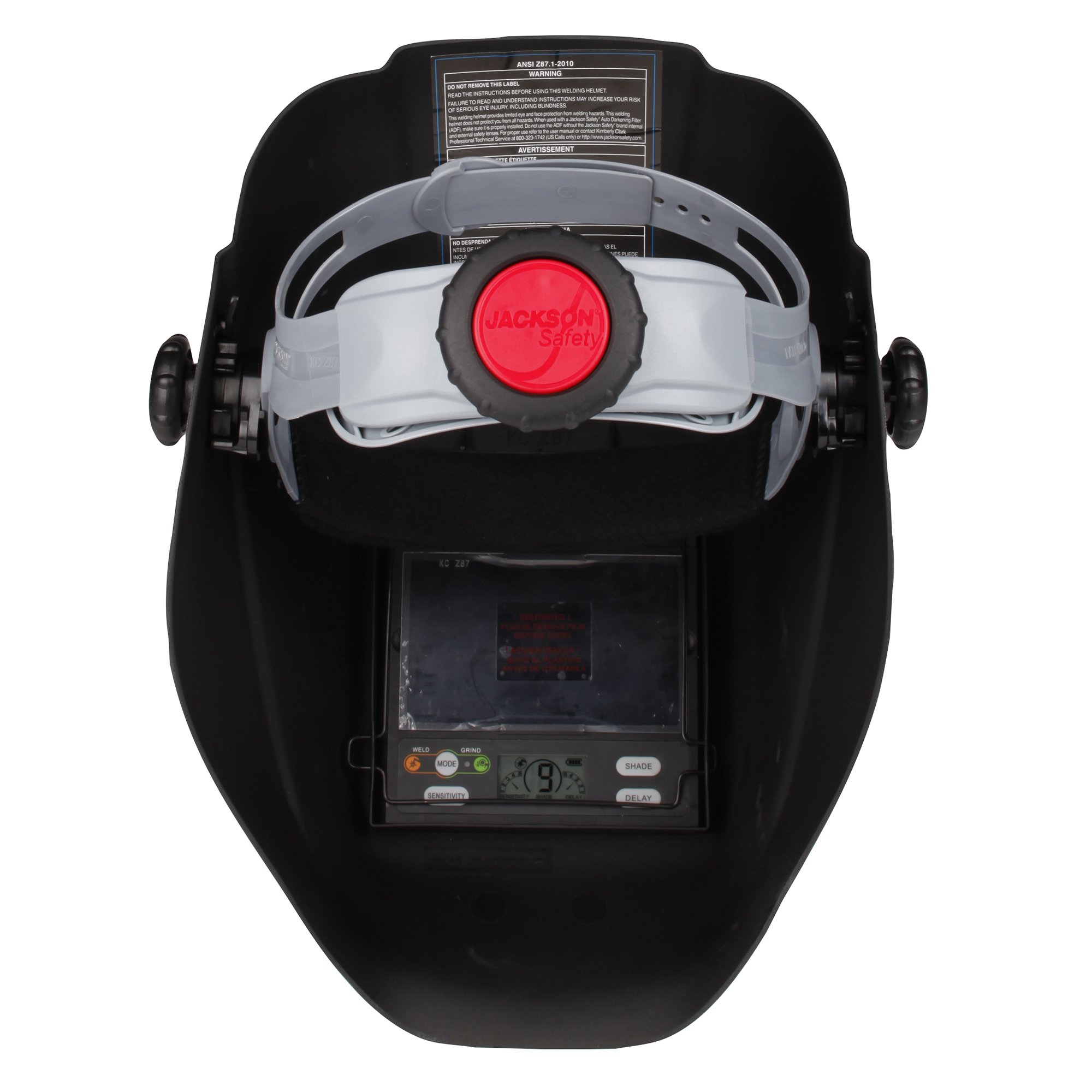 Jackson Safety Insight Variable Auto Darkening Welding Helmet, HaloX (46130), Arc Angel, 1 Helmet / Order by Jackson Safety (Image #4)