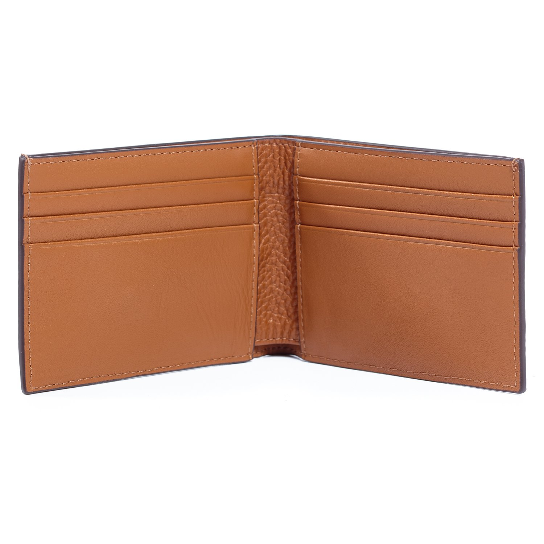 Jack Spade Pebble Leather Slim Billfold Wallet - Tan