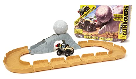 Amazon Com Tonka Climbovers Jeep Boulder Escape Playset Toys Games