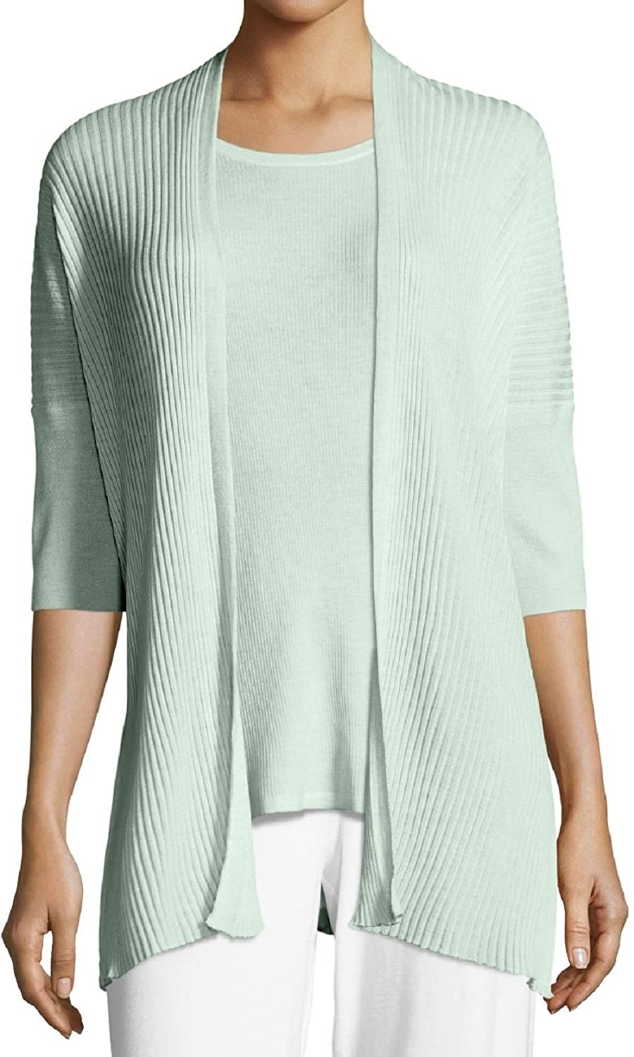 766eae96ad6 Eileen Fisher Women s Merino Ribbed Boxy Cardigan