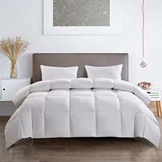 product image for Serta 233 Thread Count Feather and White Goose Down Fiber Light Warmth Comforter, Twin