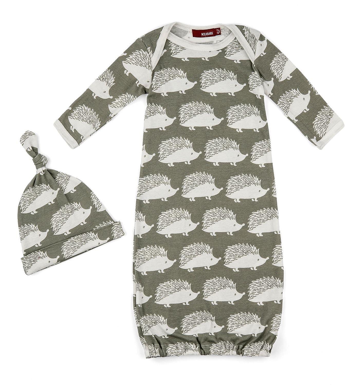 MilkBarn Newborn Gown and Hat Set 25013100