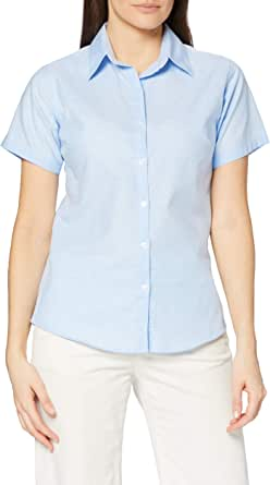 Premier Workwear Signature Oxford Short Sleeve Shirt Camisa para Mujer