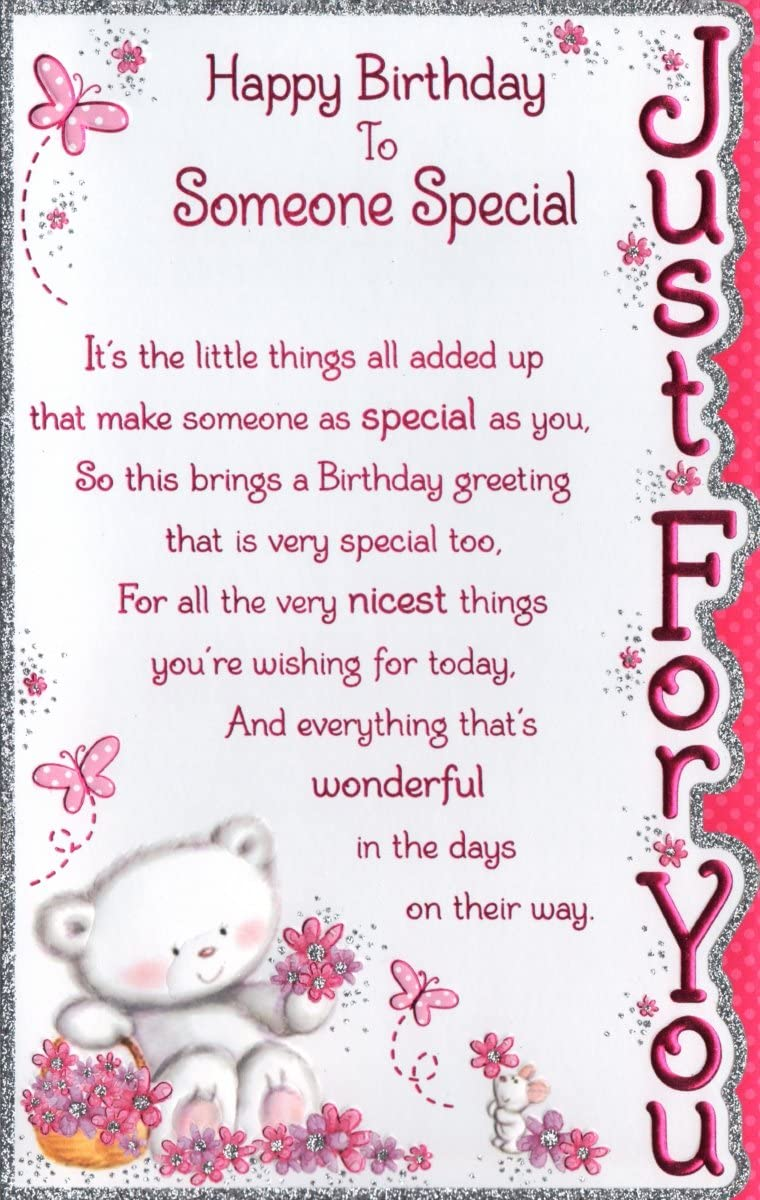 Swell Someone Special Birthday Card Happy Birthday To Someone Special Personalised Birthday Cards Rectzonderlifede