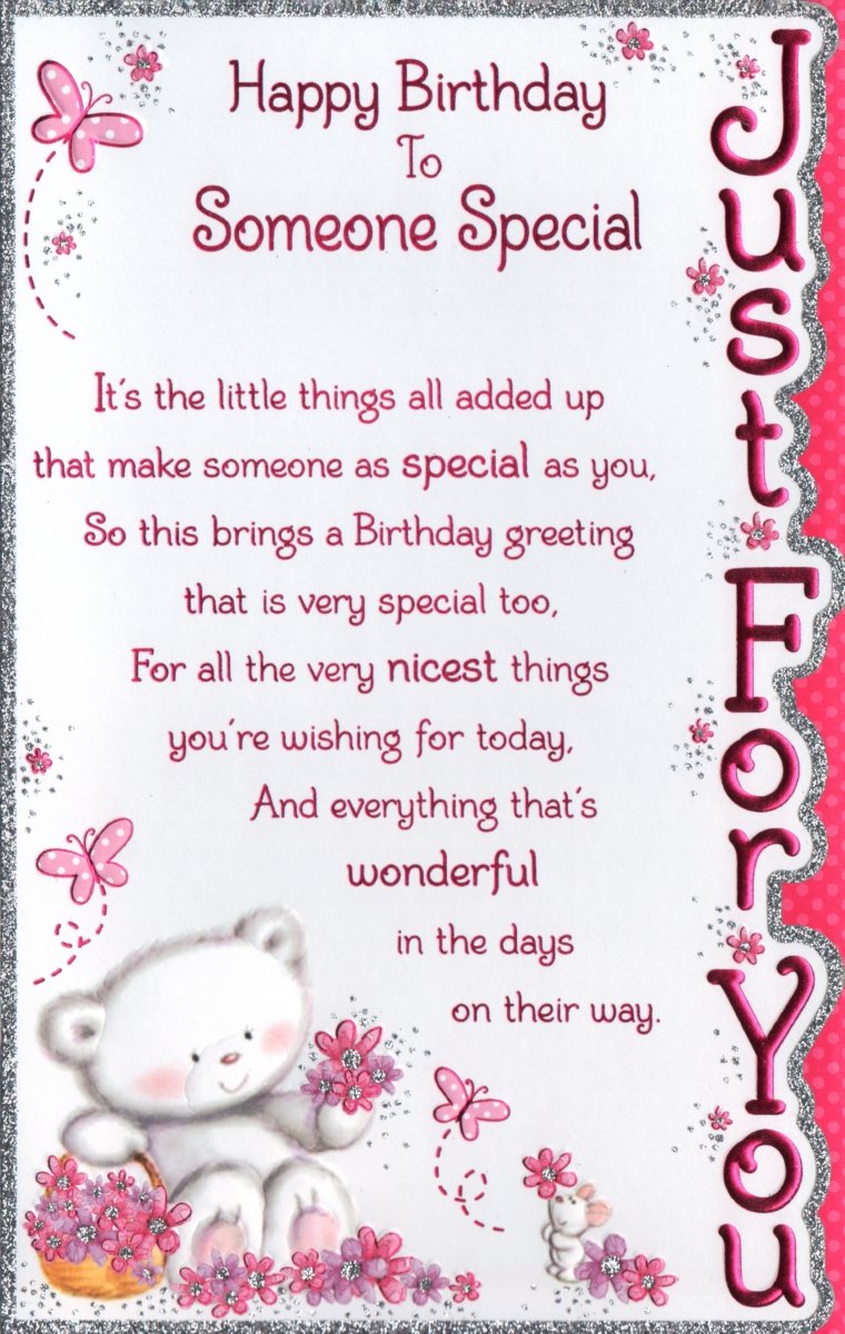 Someone Special Birthday Card Happy Birthday To Someone Special – Special Birthday Cards for Someone Special