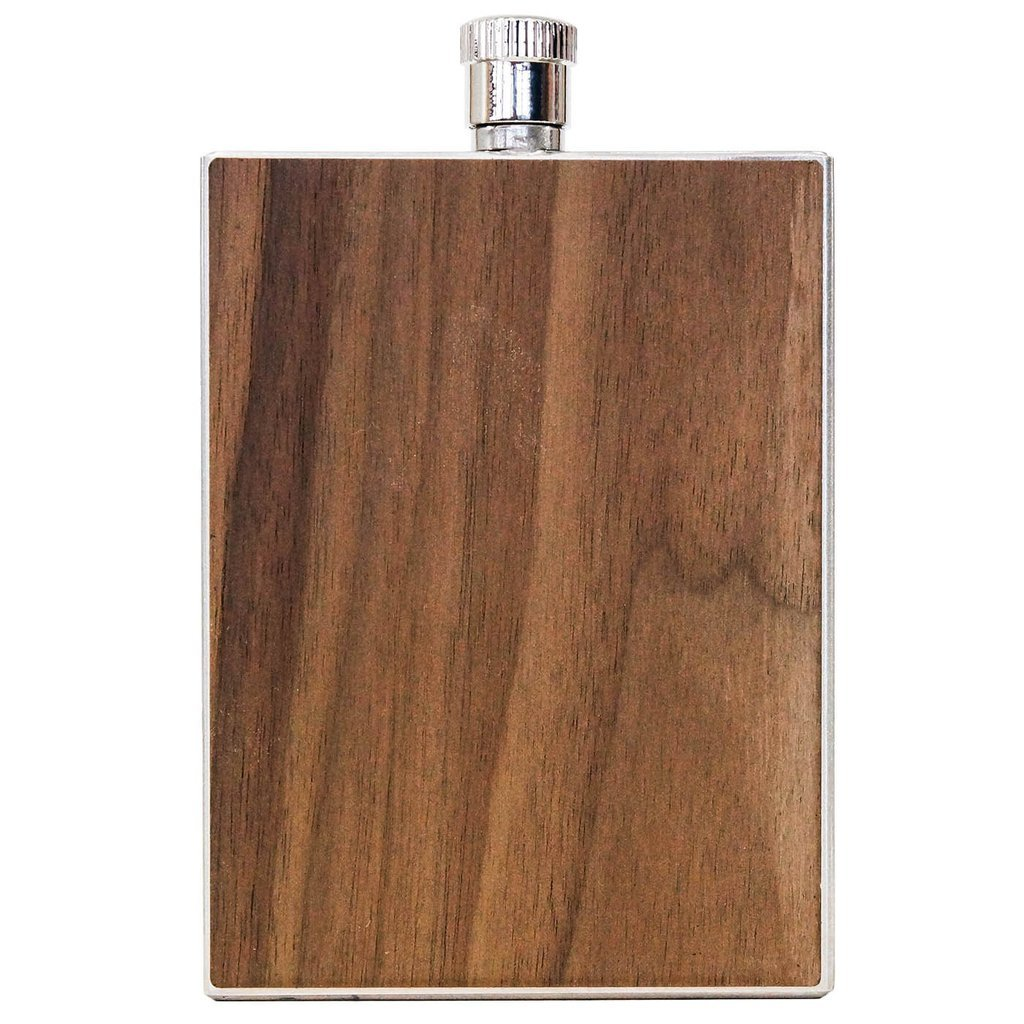 WOODCHUCK USA Wooden 3 oz Flask in Walnut - 100% Premium Wood by WOODCHUCK USA