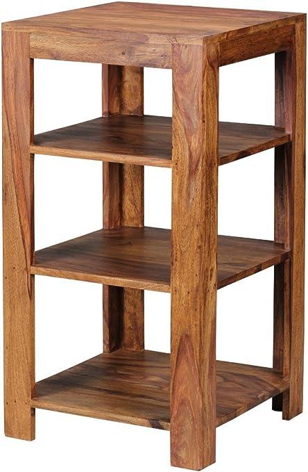 UMBAI Estantería de Madera Maciza de Sheesham, con 3 estantes, Estilo rústico, Mesa Auxiliar, 83 x 44 x 44 cm: Amazon.es: Juguetes y juegos