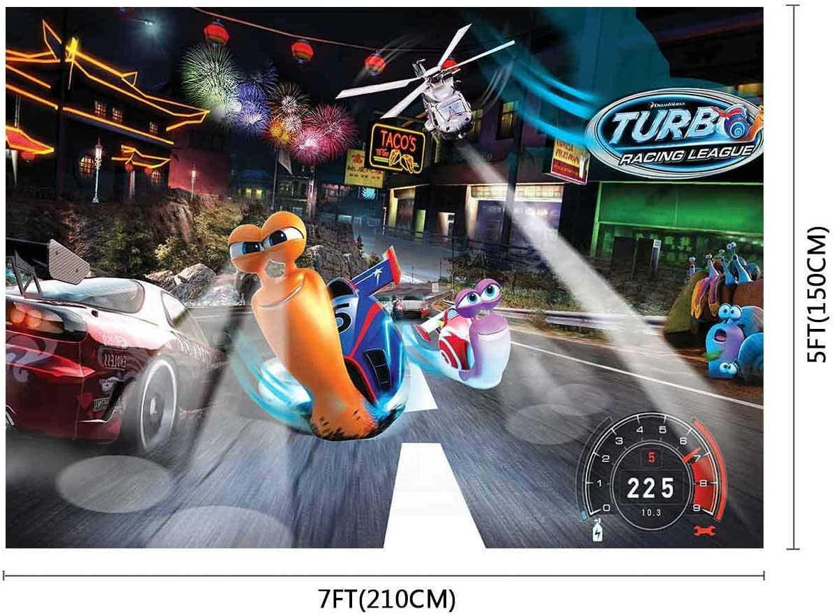 10x8ft Background Cartoon Racing Character Photography Backdrop Baby Photo Props XCFU403
