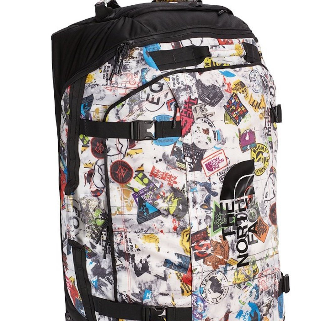 The North Face Base Camp Duffel (X-Large, TNF Red Sticker Bomb Decay Print/TNF Black)