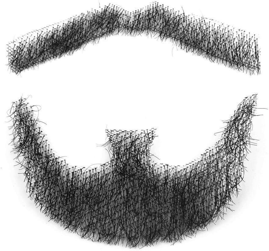 Fake Beard Men Mustache 100/% Human Hair Makeup Body Care Lots of Style