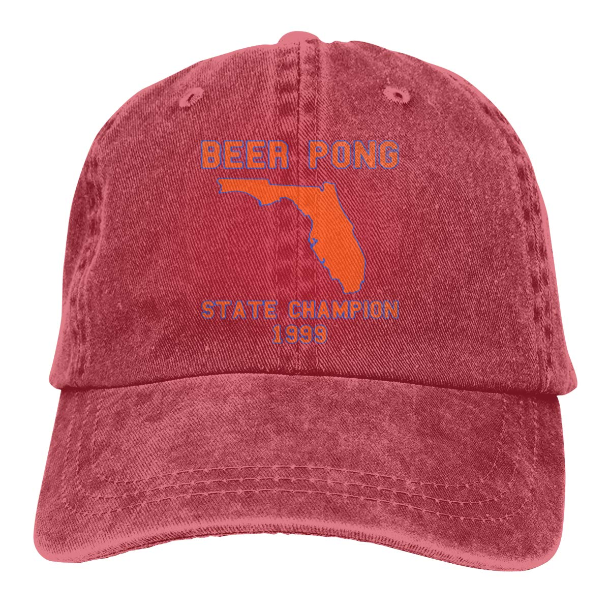 Beer Pong State Champion Unisex Adult Cowboy Hat Outdoor Sports Hat Adjustable Baseball Cap