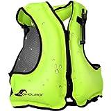OMOUBOI Inflatable Snorkel Vest for Adult, Floatage Buoyancy Aid Swimming Vest Lightweight Kayak Diving Jackets for…