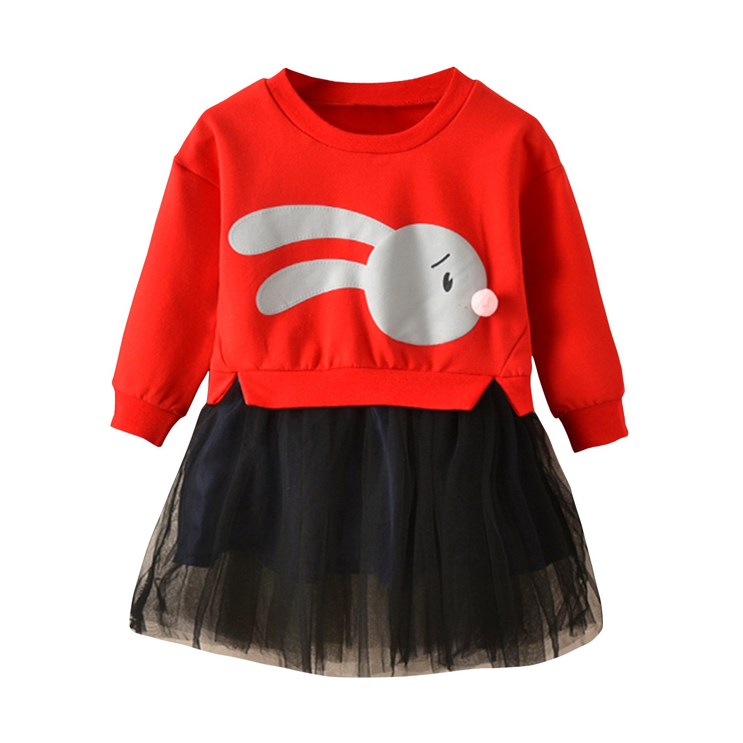 97e3aa5bd Design: Finished with sweet ultra-soft cotton cute bunny-adorned print,  ribbed appliques print cotton outfit costume, fit for sweet girls.