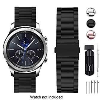 Fullmosa Compatible Huawei Watch, Samsung Gear S2 Classic Gear S3 Classic/Frontier Smart Watch Band 18mm 20mm 22mm