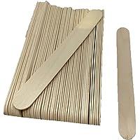 50 Spatules moyenne en bois pour épilation à la cire, PUREWAX By Purenail, visage, parties sensibles, corps