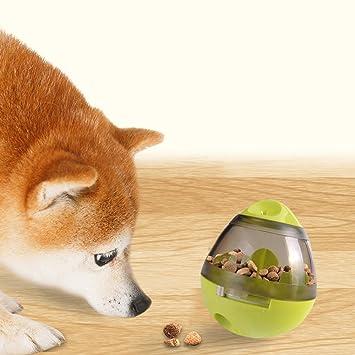 Everfunny - Bola de juguete interactivo para perros – Dispensador de alimentos para perros pequeños,