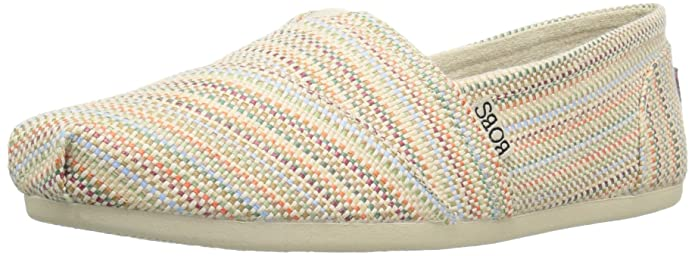 BOBS from Skechers Women's Plush My Girl Flat, Natural Raffia, 7 M US