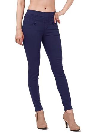 Womens skinny jeans elastic waist