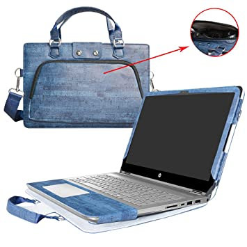 HP Notebook 14 Funda,2 in 1 Diseñado Especialmente La Funda Protectora de Cuero de